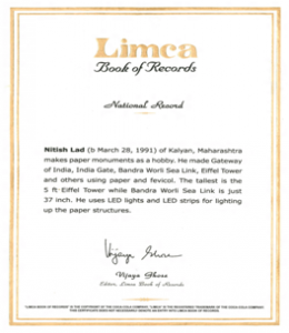 Dr. Nitish Vijay Lad, Limca Book of Records