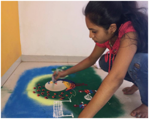 Rangoli Making, Cultural Program at IMCOST