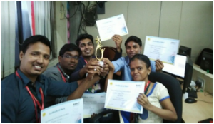Winners Team at Inter College Project Making Competition at SEED Infotech Ltd.