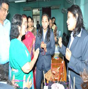 Dr. Vijaya Wad Interacting with Students at IMCOST